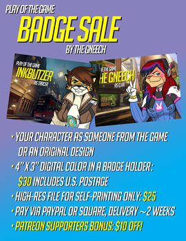 Play of the Game Badge Sale!