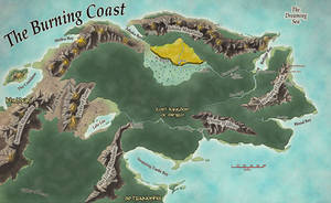 Burning Coast Dungeons and Dragons Map