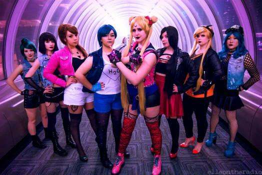 Biker/punk Sailor Scouts!