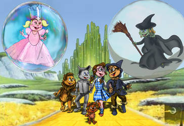 The Chipmunks vs Wizard of OZ by TheSorceressRaven