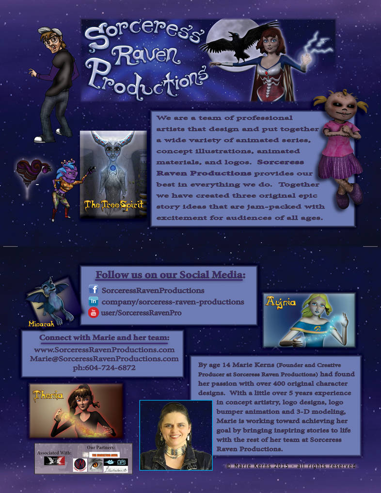 The New Sorceress Raven Productions Flyer