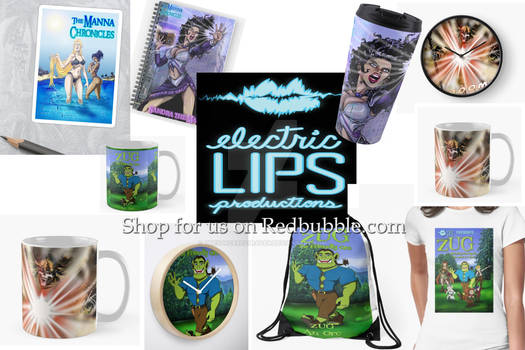 Merchandise with Electric Lips Productions