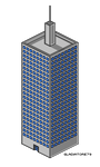 Isometric Pixel Skyscraper by Gladiatore79