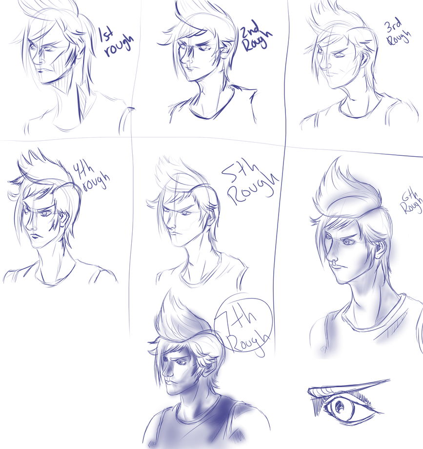 Prompto Rough 1-7 by TheDoctorArtist