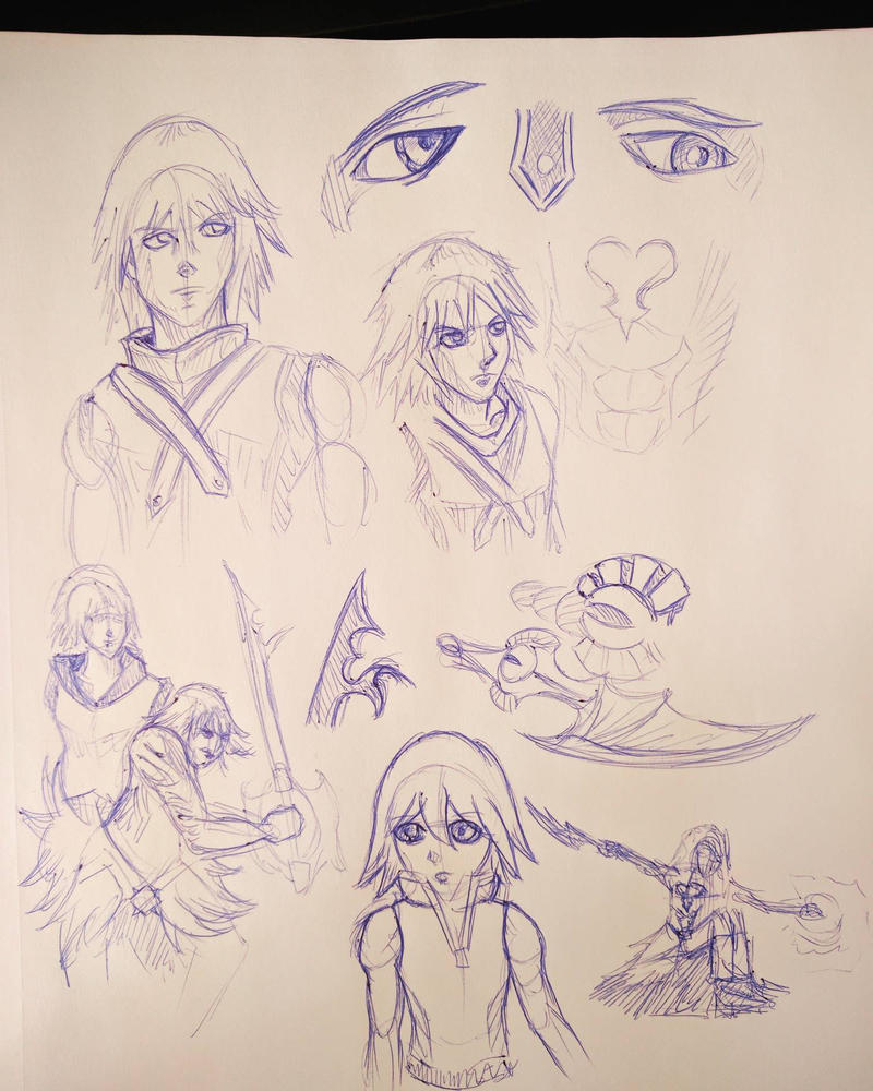 Riku - Roughs by TheDoctorArtist