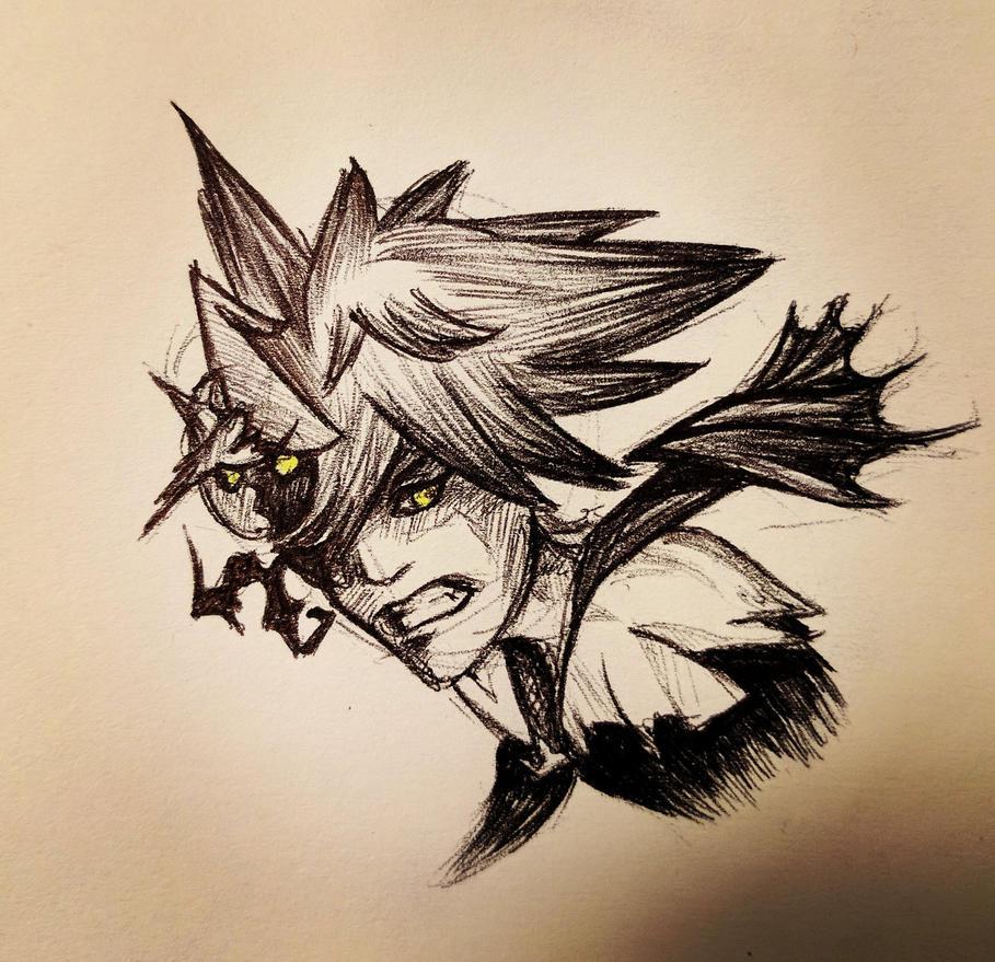 Halloween Sora - Ink by TheDoctorArtist
