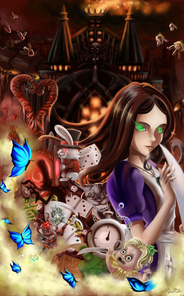 Alice Liddell in Wonderland by UmiKit