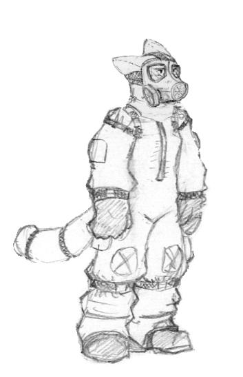 how to draw a hazmat suit