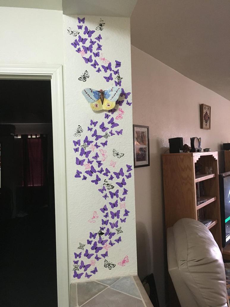Butterflies wall  by KeidaHattori