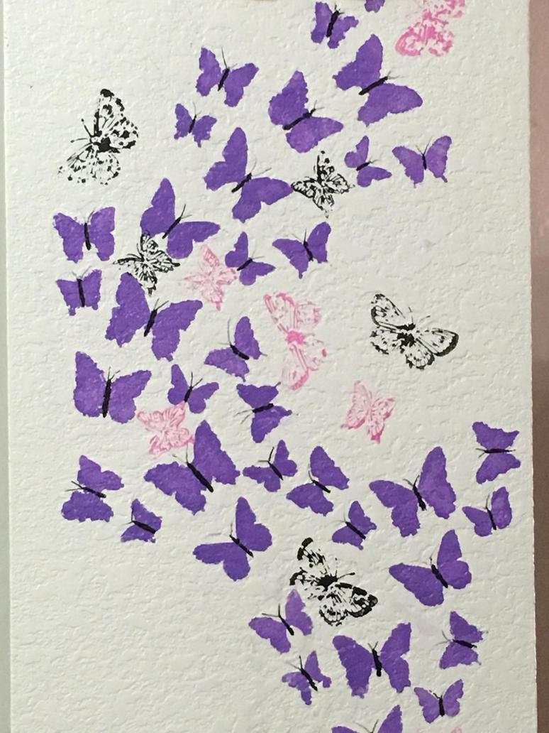 Butterflies wall 2 by KeidaHattori