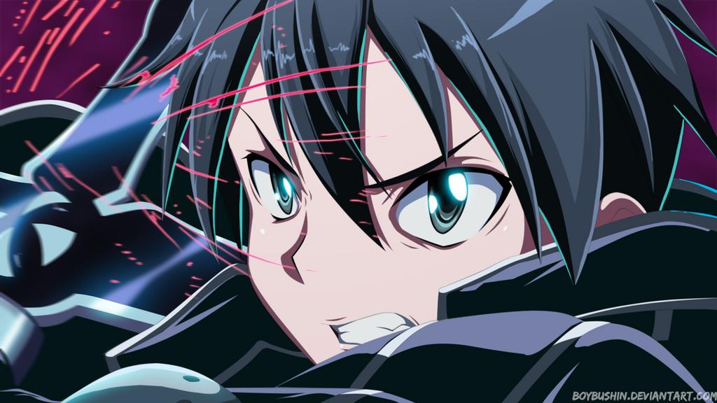 Kirito-Sword Art Online by MilarS