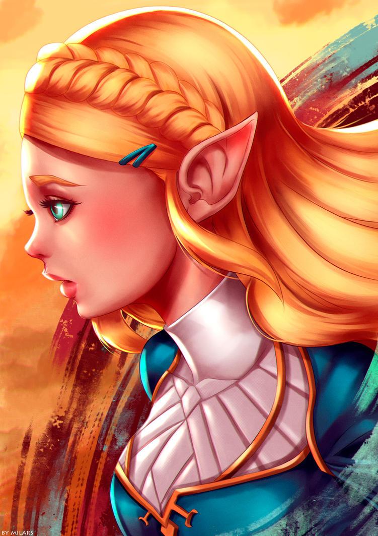 Princess Zelda-breath of the wild by MilarS