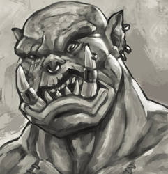 Furious Orc by MilarS