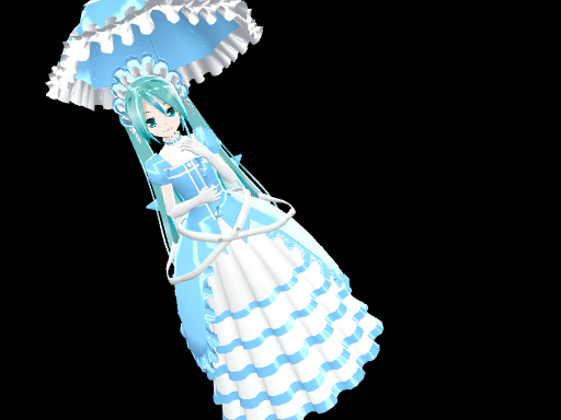 Lat Victorian-Style Miku DL by midnighthinata