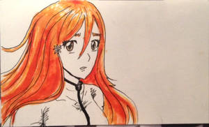 Inoue Orihime Rough Sketch by KHcreations