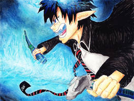 Rin Okumura in Demon Form by KHcreations