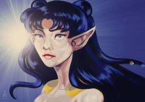 Queen Nehellenia (Sailor Moon characters) by tashamille
