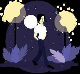 Ishida Uryu - walking in night by tashamille
