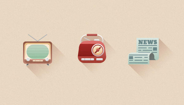 Retro Media Icons