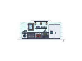 Modern Kitchen by tashamille