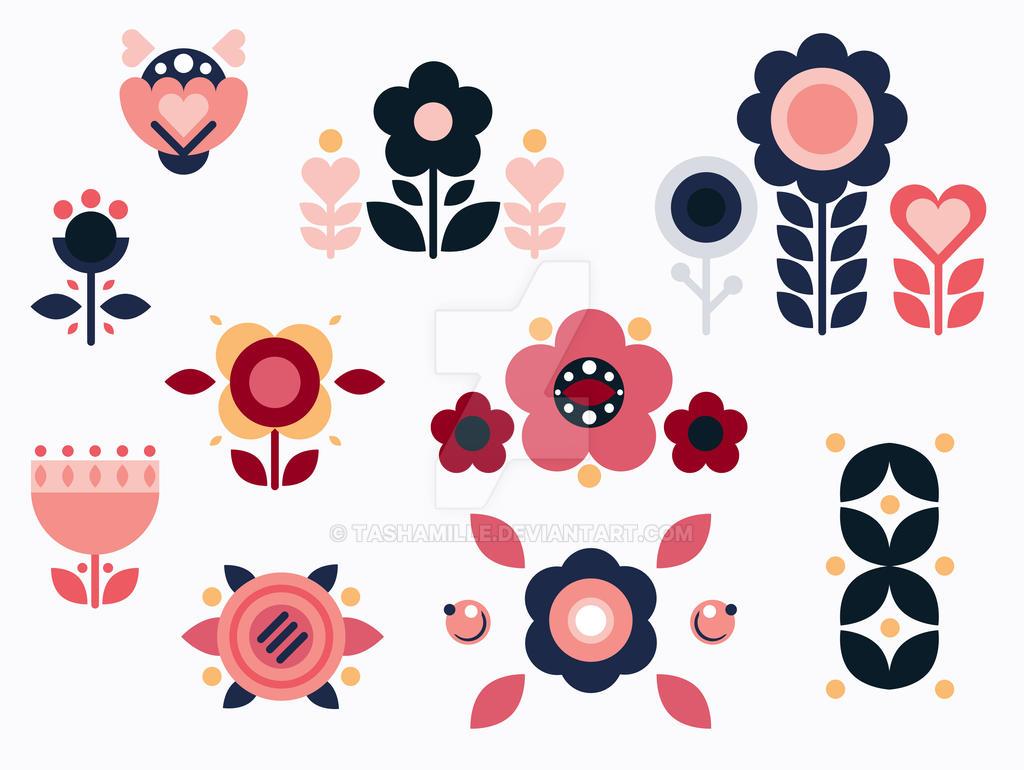 Ukrainian folk flowers