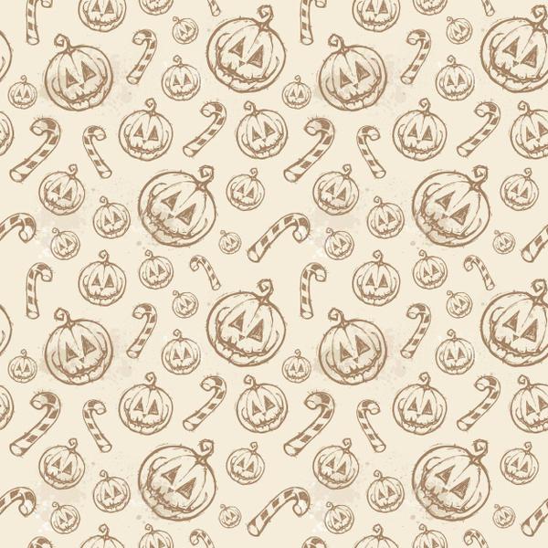 Halloween Pumpkin Pattern by tashamille