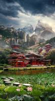 Chine Matte Painting Landscape