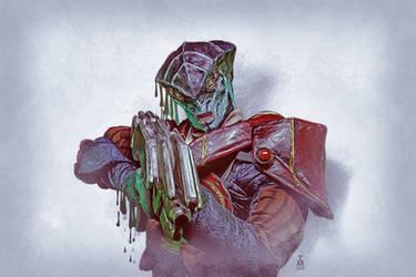 Mass Effect Sketch -  Javik by tashamille