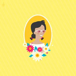 Vintage Spring Portrait  - brunette by tashamille
