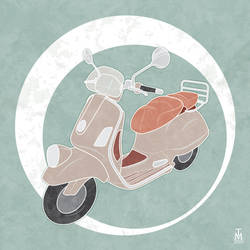 Vintage Vector Scooter by tashamille