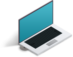 Isometric Laptop Icon by tashamille