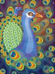 Vibrant Peacock by tashamille