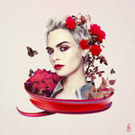 Wrath Floral Portrait by tashamille