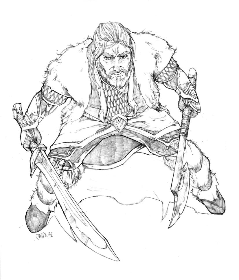 hobbit coloring pages   The Hobbit ~ Thorin Oakenshield by Harpokrates on DeviantArt