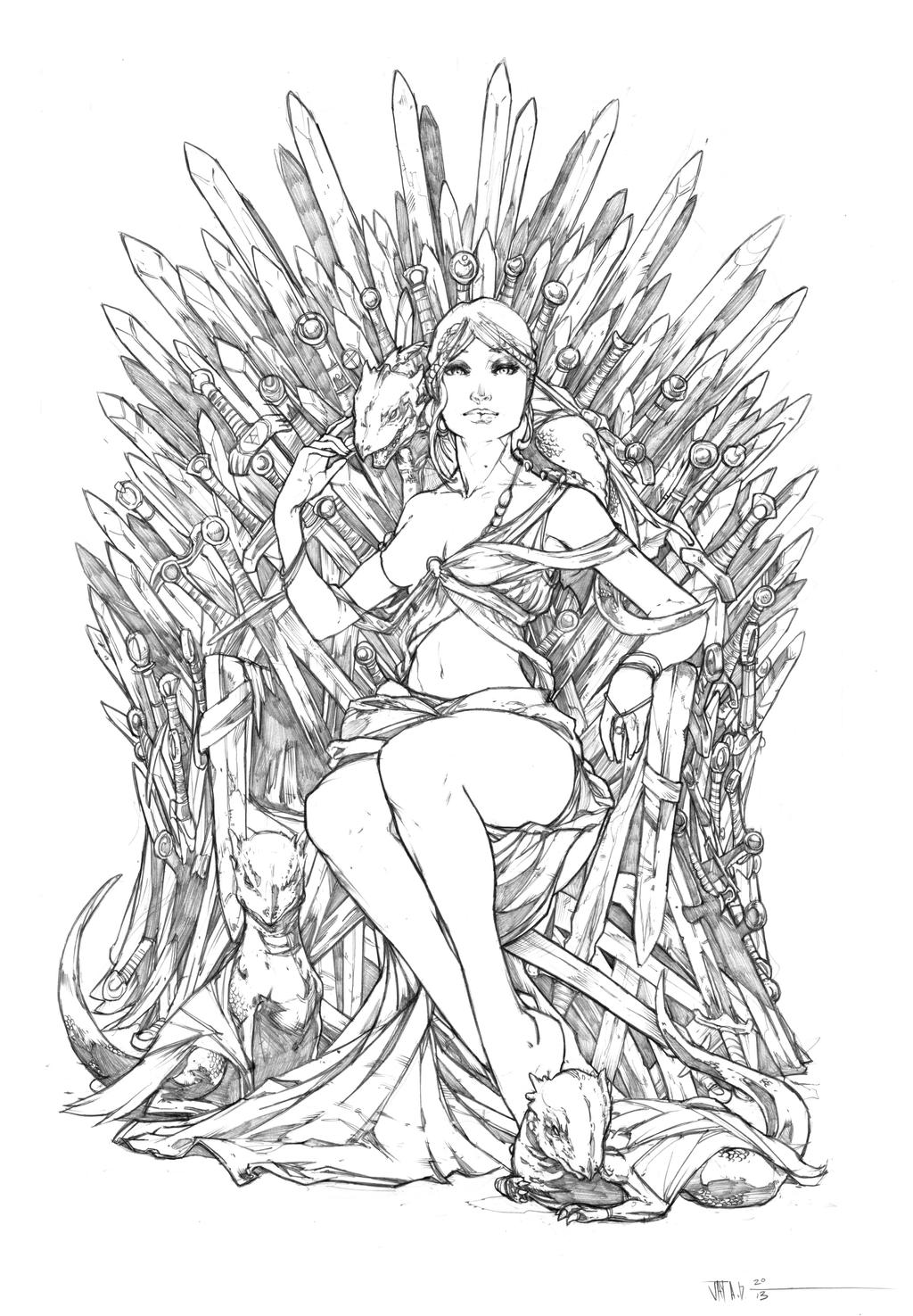 game of thrones coloring pages khaleesi - photo #5