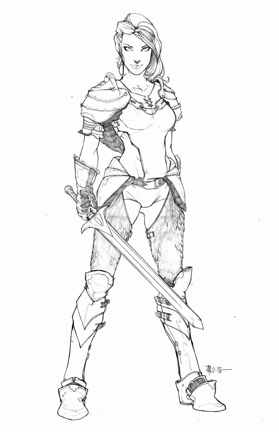 Warrior Princess by Harpokrates