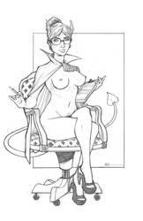 Lina - Succubus Secretary by Harpokrates
