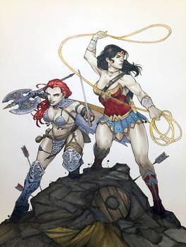 Sonja and Wonder Woman