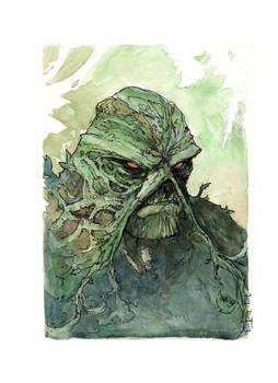 Swamp Thing Bust Commission