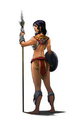 Aztec Wonder Woman Back by Harpokrates