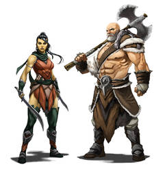 Assassin and Barbarian