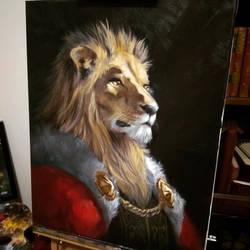 Lion Pet Portrait by Harpokrates