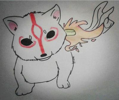 Okami - Amaterasu Chibi by YaUniverse