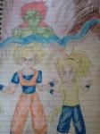 Teen Gohan and Kid Scarlet VS Bojack