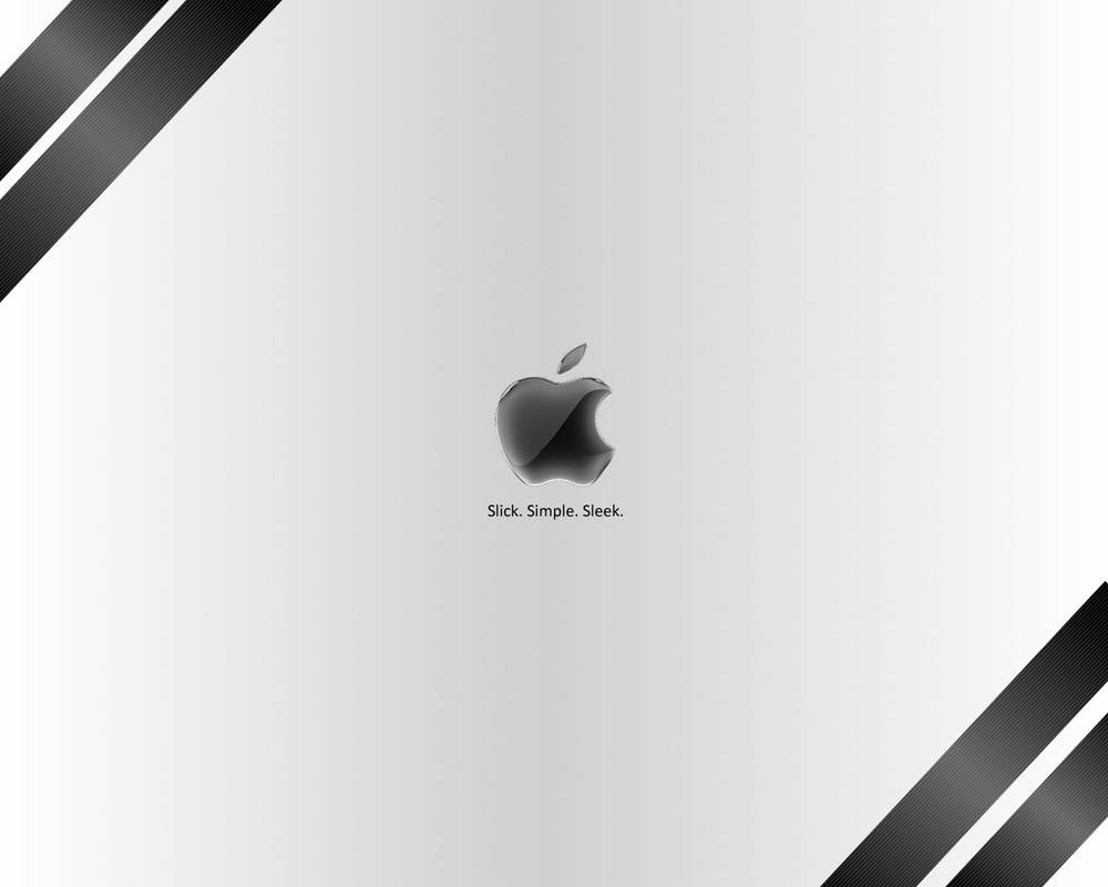 White Apple Wallpaper by jamie-lewis