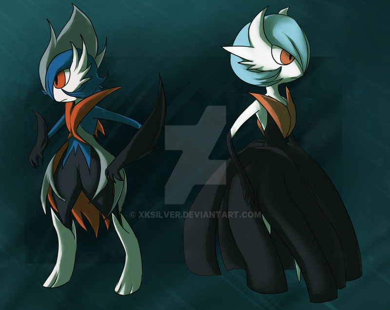 Shiny Mega Gardevoir Wallpaper: Mega Gardevoir And Gallade .:Shiny Version:. By XKSilver