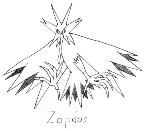 zapdos coloring pages - photo #19