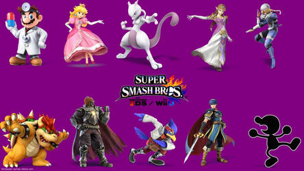 Melee Veterans (Update with Mewtwo's new render) by actioncatcher
