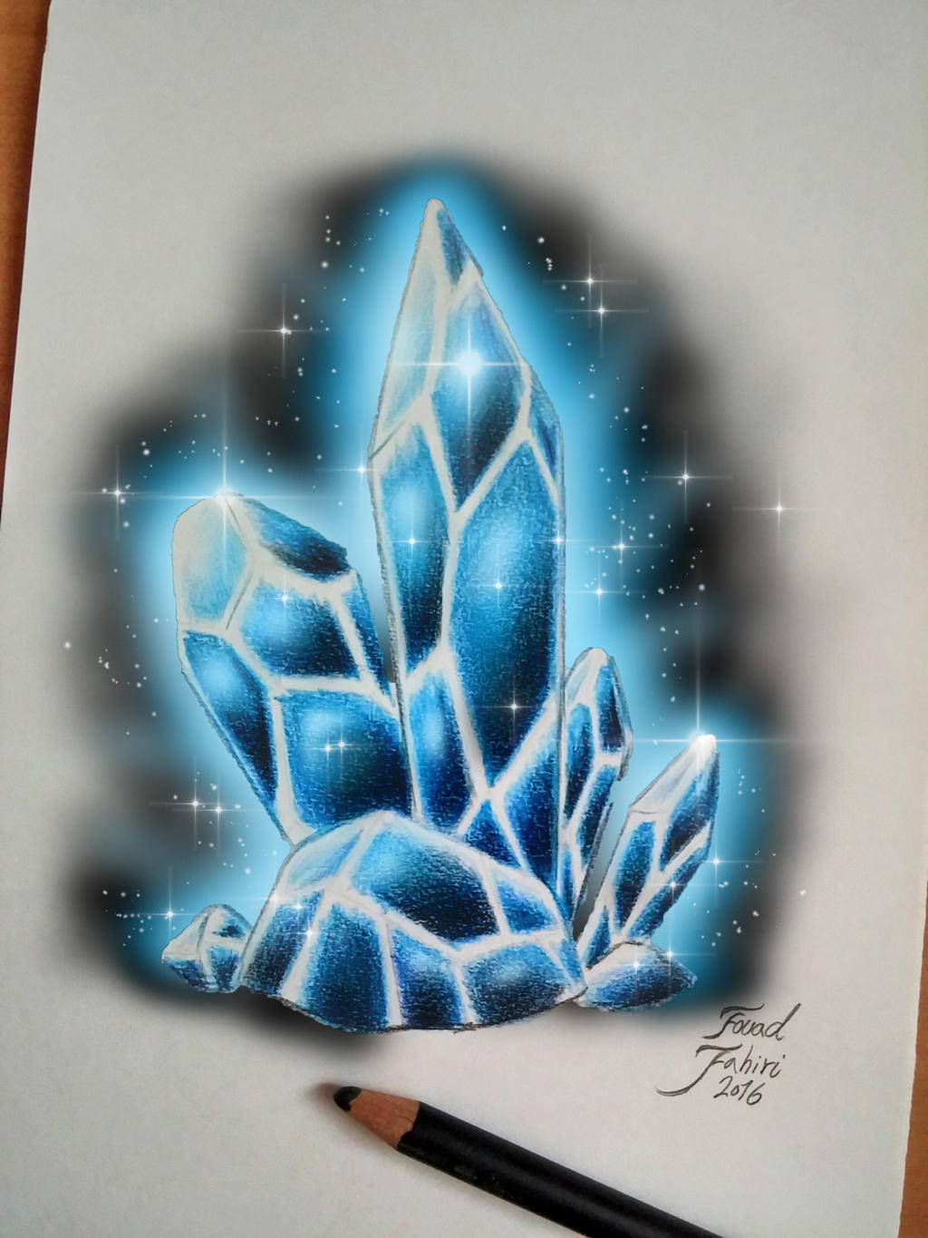 Digital art editing my crystal drawing by fouadzahiri on for Paintings of crystals