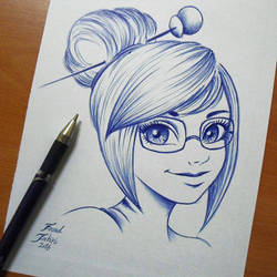 overwatch mei pen sketch